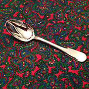 "Christofle Cluny Silver Plate OC Mark 7 1/2"" Oval Soup Spoon"