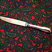 "Christofle Cluny Silver Plate OC Mark 9"" Dinner Knife"