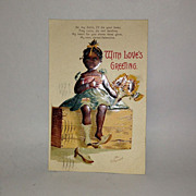 Ellen Clapsaddle Black Memorabilia 1909 Valentine Post Card