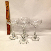 Rare Set (4) Seneca Crystal #9936 Tall Sherbets