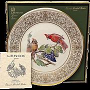 Lenox Boehm Bird Collector Series Cardinal Plate