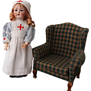 "Kammer and Reinhardt 117n ""Mein Leibling - German Antique Doll - 17 inch/nurse costume"