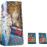 SALE Moonraker doll and packs of cards 1978 Mego corporation James Bond