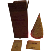 "Econolite 1950's motion lamp Christmas tree with box 12"" size"