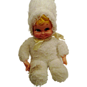 Rubber FAce cute doll may be Rushton white snow baby