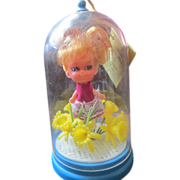 Perfumed Junior Miss Liddle Kiddle era doll competitor Mint in dome packaging 1960's
