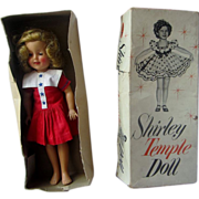 REDUCED Shirley temple in original box IDEAL vinyl 1957 orig dress