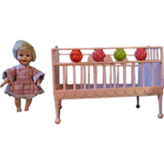 1964 Suzy Cute doll with her Pink Crib