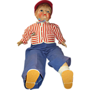 "25"" rubber and cloth large boy doll possibly Horsman 1950's"