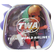 RARE TWA Airlines promotion Kiddle Clone doll from the 1960's