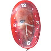 Liddle Kiddle clone watch doll in little clock bag knock off doll 1960's