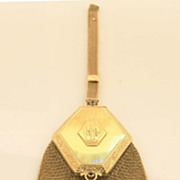 14K Gold Purse / Compact Victorian Sapphires and Pearls
