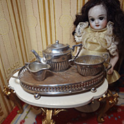 Miniature Sterling Tea Set on Tray