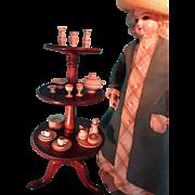 Miniature Mahogany Dumb Waiter Revolving