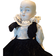 All-Bisque German Jointed Limb Doll 5 1/4""