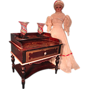 SALE Doll House Biedermeier Dresssing Table with Boule