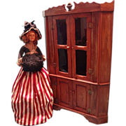 Miniature Corner Cupboard with Two Glazed Doors