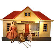 Rare Gottschalk Railway Station Red Roof