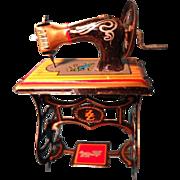 German Tin Doll House Sewing Machine