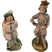 Pair of Porcelain Figures for Doll House Display