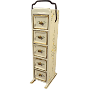 Doll House Paint Decorated 5 Drawer Chest