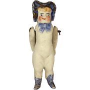 All Bisque Miniature Bonnet Head Doll