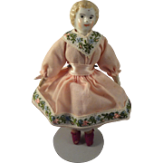 Blonde Hair China Doll House Doll