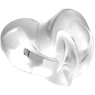 REDUCED Authentic Lalique Crystal Hearts Paperweight