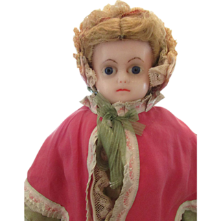 """SALE 1870 to 1880's  20 ½"""" Wax  Doll"""