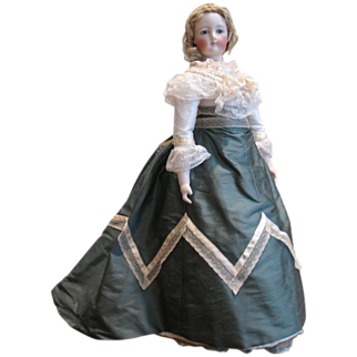 """REDUCED 1867 Promenade Style Dress for a 21"""" Doll"""
