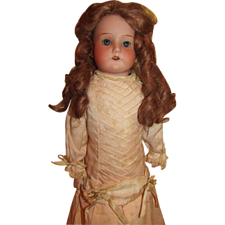 """1890 to early 1900's, 19"""" Armand Marseille """" Mable"""" Bisque doll."""