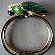 Bracelet With Rhinestone/Enamel Large Parrot