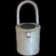 SALE RIALTO Silver-Colored Filigree Carved Top Pearl White Lucite Handbag