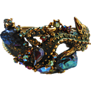 HAR Iconic Dragon Green Enamel Bracelet