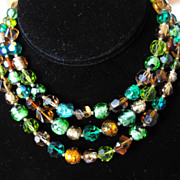 Hattie Carnegie Signed Multi-Strand Necklace