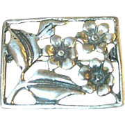 Vintage Brooch Sterling Flowers 1950's