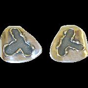 H. Fred Skaggs Earrings Modernist Sterling
