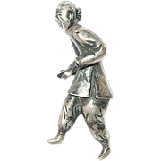 SALE Vintage Sterling Chinese Miniature Sculpture