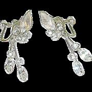 Vintage Krementz Rhinestone Drop Earring