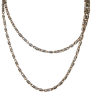 SALE Victorian Link Necklace Rolled Gold  1870's