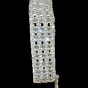 SALE Vintage Large Rhinestone Bracelet