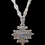 SALE Vintage 800 Coin Silver Peruzzi Necklace & Pendant