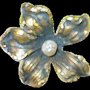 "SALE Art Nouveau 10K Gold over Sterling Hat Pin 8 1/4"""