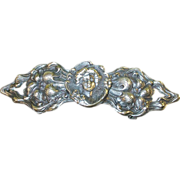 SALE Art Nouveau Large Repousse Buckle