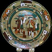 SALE Antique Deldare Ware Plate By Buffalo Pottery