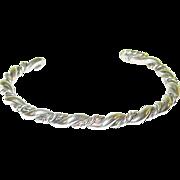 SALE Vintage Sterling Cuff Bracelet Twisted Design