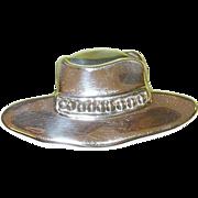 SALE Vintage Lg Sterling Hat Brooch