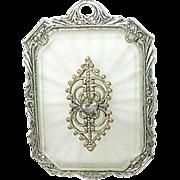 SALE Vintage Large Camphor Glass Pendant