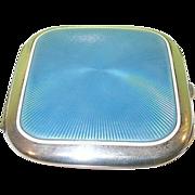 SALE Vintage Sterling & Guilloche Enamel Cigarette Case