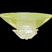 SALE Vintage Steuben Lg Footed Peony Bowl